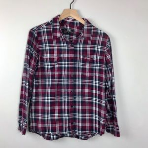 Young & Reckless flannel button down small